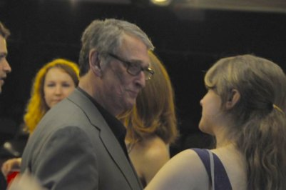 "With Mike Nichols at New Actors Workshop 2010. Celebrated director Mike Nichols was one of the founders of NAW and led masterclasses every Wednesday afternoon. ""There are three kind of scenes; a seduction, a negotiation or a fight."""