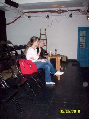 "Carol Sills rehearsals for the production of ""Tao of Chuang Chou"". Working as a stage manager for her, I basically learned how to build a show, and to be able to say ""I don't know"" without being afraid of the ""unknown"""