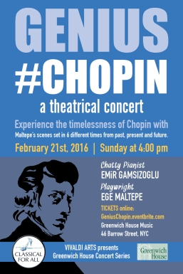 GENIUS #CHOPIN-Postcard