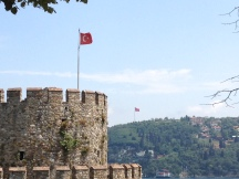 And there I was, where I was able to see two continents from the top; Asia and Europe. How beautiful it was with the Turkish flag! By the way, there is another fortress just across Rumeli that is called Anatolian Fortress. When you acknowledge that these beautiful pieces of historical architecture were made for war, you start to think how many people have died here? And you feel sorry about the history of humankind which is filled with bloody stories of glory and defeat. At least I felt sorry for a moment. Then I saw the fig trees and remembered my childhood and it was all ok again. There was nothing I can do except to learn and take lessons from the history. Right?