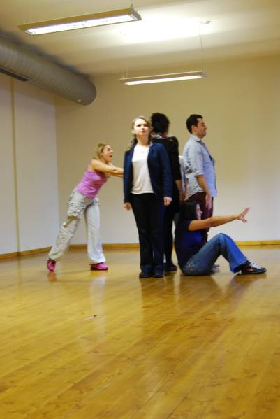 SPOLIN 4'lerle mini performans. A performance with players of SPOLIN 4 Workshop