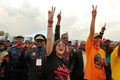 ONE BILLION RISING! Kongo. Photo: Paula Allen